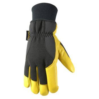 Men's HydraHyde Winter Gloves, Very Warm 100-gram Thinsulate, Grain Goatskin (Wells Lamont 1206)