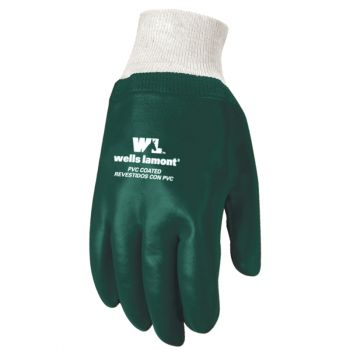 Slip-On PVC Coated Chemical Resistant Gloves, One Size (Wells Lamont 180)