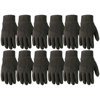 12 Pair Bulk Pack Jersey Cotton Work Gloves, Large (Wells Lamont 506LZ)