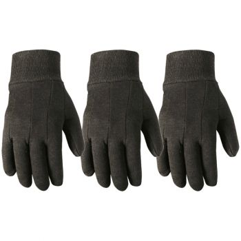 3 Pair Bulk Pack Jersey Cotton Work Gloves, Large (Wells Lamont 508LF)