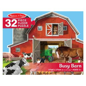 Busy Barn Yard Shaped Floor Puzzle – 32 Pieces