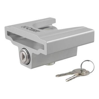 "Trailer Coupler Lock for 1-7/8"" or 2"" Flat Lip Couplers (Grey Aluminum)"