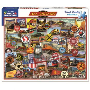 All Aboard-Trains 1000 pc. Puzzle