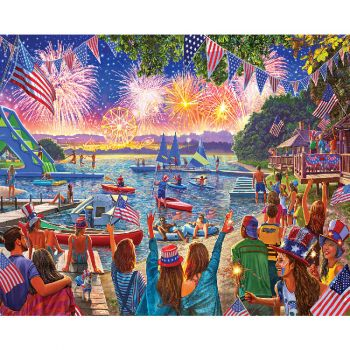 4th of July Fireworks - 1000 Piece Jigsaw Puzzle