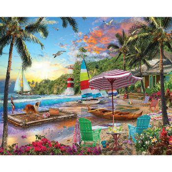 Beach Holiday - 550 Piece Jigsaw Puzzle
