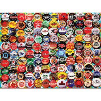 Beer Bottle Caps - 550 Piece Jigsaw Puzzle