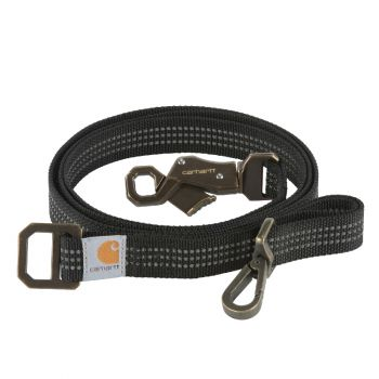 Carhartt Dog Leash, Black / Brushed Brass, Large