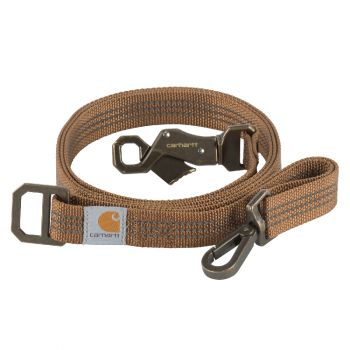 Carhartt Dog Leash, Carhartt Brown / Brushed Brass, Large