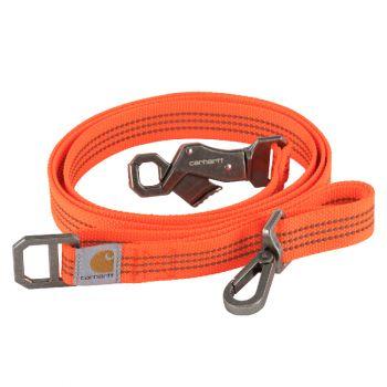 Carhartt Dog Leash, Hunter Orange / Brushed Nickel, Large