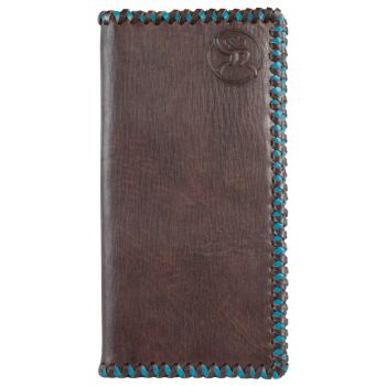 Hooey Roughy Turquoise Stitched Edge Leather Rodeo Wallet