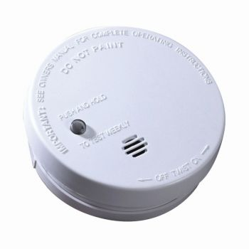 "Battery Operated 4"" Smoke Alarm"
