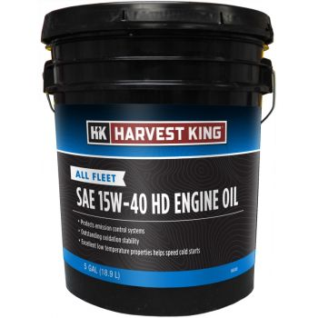 Harvest King All Fleet SAE 15W-40 HD Engine Oil, 5 Gal.