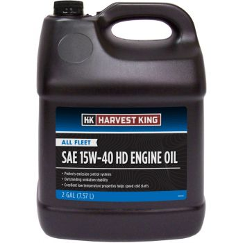 Harvest King All Fleet SAE 15W-40 HD Engine Oil, 2 Gal.
