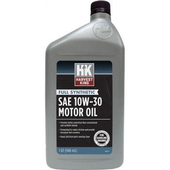 Harvest King Full Synthetic SAE 10W-30 Motor Oil, Qt.