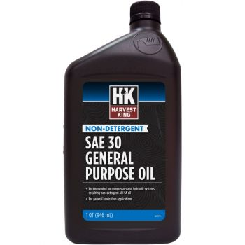 Harvest King Non-Detergent SAE 30 General Purpose Oil, Qt.
