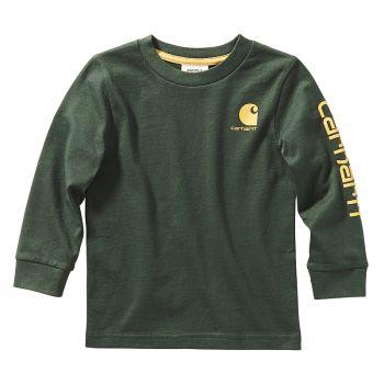 Boy's Long Sleeve Graphic T-Shirt, Deep Forest (2T - 4T)