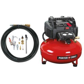 PORTER-CABLE 150 PSI, 6 Gallon Oil-Free Pancake Air Compressor