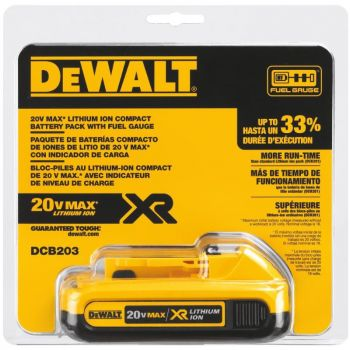 DEWALT 20 V MAX Compact XR Lithium Ion Battery Pack