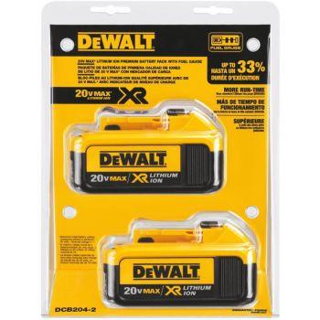 DEWALT 20-volt MAX Premium XR Lithium Ion Battery 2 pack