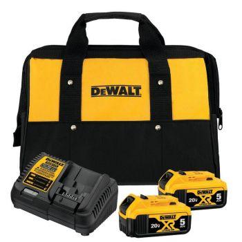 DEWALT 20V MAX 5.0Ah Starter Kit with 2 Batteries