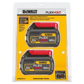 DEWALT 20 V/ 60 V MAX* FLEXVOLT 6.0 Ah Battery 2 pack