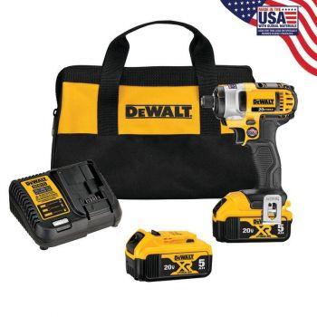 DEWALT 20 V MAX* Lithium Ion 1/4 In. Impact Driver Kit (3.0Ah)