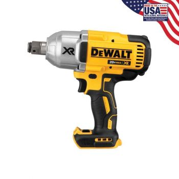 DEWALT 20 V MAX XR Brushless High Torque 3/4 In. Impact Wrench with Hog Ring Retention Pin Anvil (Bare)