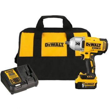 DEWALT 20 V MAX XR Brushless High Torque 0.5 In Impact Wrench Kit w. Detent Pin Anvil