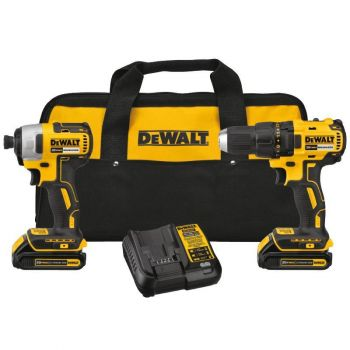 DEWALT 20V MAX Compact Brushless Drill Driver and Impact Kit