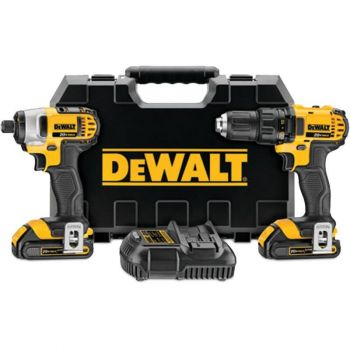 DEWALT 20V MAX Lithium Ion Compact Drill/Driver/Impact Driver Combo Kit (1.5 Ah)