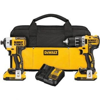 DEWALT 20 V MAX XR Lithium Ion Brushless Compact Drill/Driver and Impact Driver Combo Kit