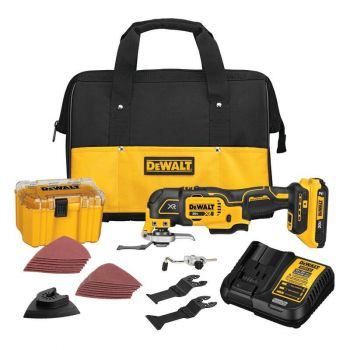 DEWALT XR 33-Piece Cordless Brushless 20-volt Max Variable Speed Oscillating Multi-Tool Kit with Soft Case (1-Battery Included)