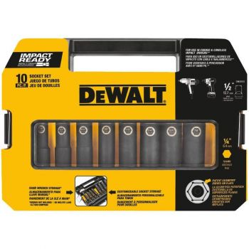 DEWALT 1/2 in. 10 pc. Impact Ready Socket Set