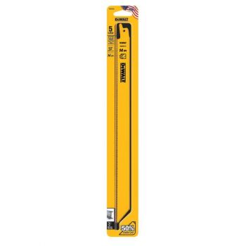 DEWALT 12-in 14 TPI Straight Back Blades (5)