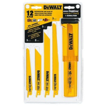 DEWALT Reciprocating Saw Blade Set w/Case