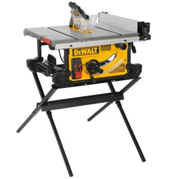 DEWALT 10 In. Job Site Table Saw with Scissor Stand