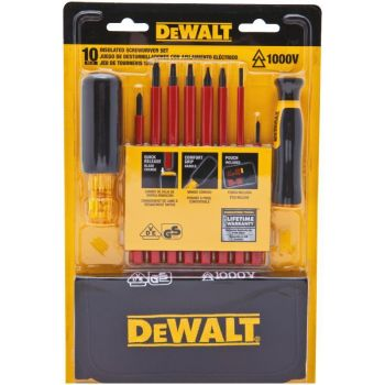 DEWALT 10 Piece Vinyl Grip Insulated Screwdriver Set