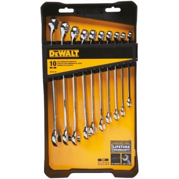 DEWALT 10 piece Combination Wrench Set (MM)