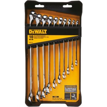 DEWALT 10 piece Combination Wrench Set (SAE)