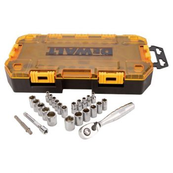 DEWALT 25 piece 1/4 In. Drive Socket Set