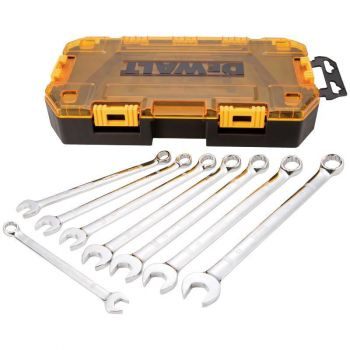 DEWALT 8 piece Metric Combination Wrench Set