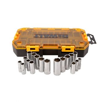 DEWALT 20 piece 3/8 In. Drive Deep Socket Set