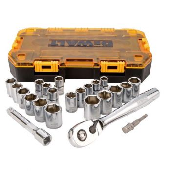 DEWALT 23 piece 1/2 In. Drive Socket Set
