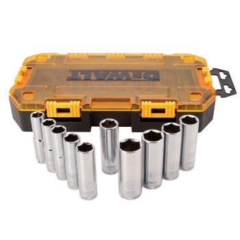 DEWALT 10 piece 1/2 In. Drive Deep Socket Set